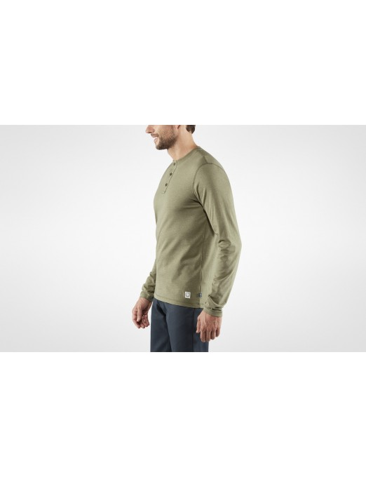 GREENLAND RE-COTTON BUTTONED LS M